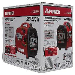 A-iPower SUA2300i Ultra-Quiet Inverter Generator, Mobility Kit CARB Compliant