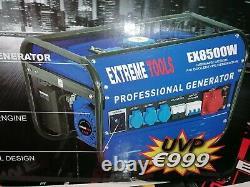 Brand NEW Generator 6KVA Petrol Silent Key Operated 6500w 3x 230v 6 KVA