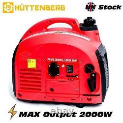 CAMPING SUPER SILENT SUITECASE Mobil Genset 2000W Petrol Inverter Generator