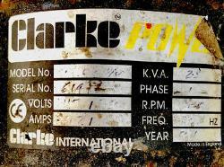 Clarke Power Frame Mounted Honda Powered 5.5 Petrol Generator 2.5 KVA 115v 230v