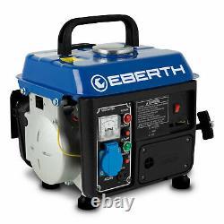EBERTH 2 HP 1.47kW Petrol generator 750W portable gasoline 2 stroke engine 63 c