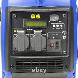 Generator Petrol Inverter Portable Quiet 2kw 2.4kVA Leisure Camping Caravan