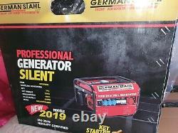German Stahl Professional Silent Air-cooled Generator. New Model 2019 MT8500W