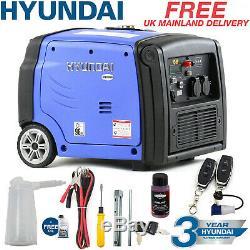 Hyundai Generator Petrol Portable Suitcase Inverter REMOTE START 3kw 4kVa 3200w