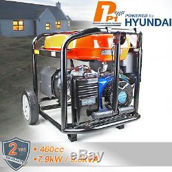 Petrol Generator Electric Start Portable Site Power 7.9kW 7900W 9.8kVA 230/115V