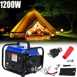 Portable Petrol Generator 2-Stroke 1200w Manual Recoil Start Camping Power UK