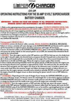 SALE LPG PORTABLE GENERATOR 50A 12v BATTERY CHARGER MOTORHOME CARAVAN BOAT