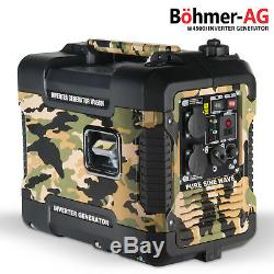 Silent Inverter Petrol Generator W4500i 2000W Portable Camping 4 stroke Power