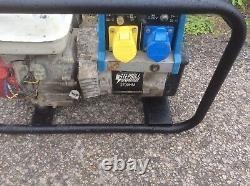 Stephill 2.7 Kva 110 240 Volt Petrol Generator Honda Gx 160 Engine Catering