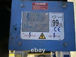 Stephill 5.0 kVA 115/230V Petrol Generator Honda Eng, Key Start + Long Run Tank