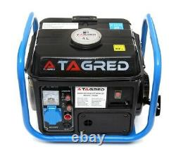 TA980 Portable Petrol Generator 2,1 HP 2 stroke 1250W 62 dB Camping DIY