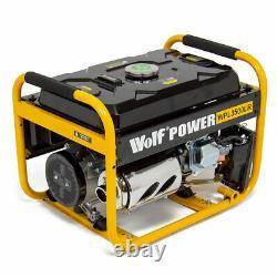 Wolf Petrol Generator 3200w 4.0KVA 7HP 4 Stroke 230V 13amp & 16amp