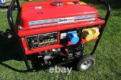 4,5 Kva Clarke Fg4050es 4.5 Kva Générateur D'essence Portable C/w Démarrage Électrique