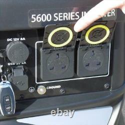 Blackline Power 5600e 4kw Onduleur Générateur D'essence Électrique Démarrer Calme 53db