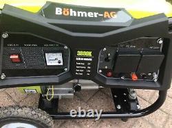 Böhmer-ag Wx3800k 3000w Générateur D'essence Seulement 4 Heures D'utilisation Excellent État