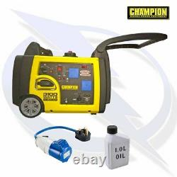 Champion 73001i-p 3100 Watt Onduleur Générateur D'essence Camping Et Caravaning