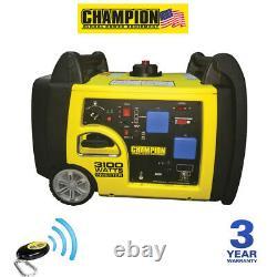 Champion 73001i-p, 3100 Watt Remote Start Inverter Petrol Generator Uk Spec New