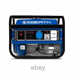 Eberth 3.0hp Générateur D'essence 2,2kw Essence Portable Moteur 4 Temps 1000w
