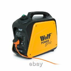 Ex Démo Wolf Petrol Onduleur Generator 1200w 4hp 4stroke Silent Portable Caravan