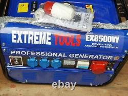 Extreme Tool Professional Generator Générateur D'essence Silencieux Ex8500w