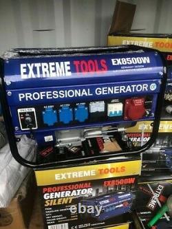 Extreme Tool Professional Generator Silent Ex8500w Générateur D'essence