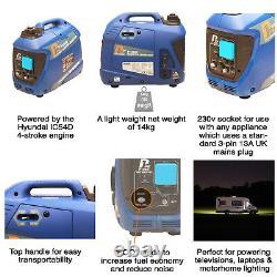 Générateur D'essence Inverter Portable Valise Silencieux De 1kw Jusqu'à 4kw Hyundai P1