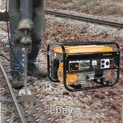 Générateur D'essence Portable 4-stroke 4000w Electric Recoil Start Camping Power Uk