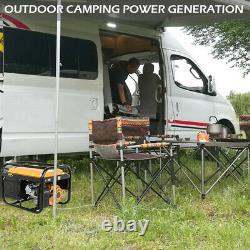 Générateur D'essence Portable 4-stroke 4000w Recoil Électrique Démarrer Camping Power Uk