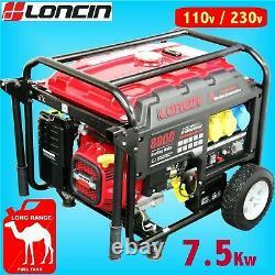 Générateur D'essence Portable Loncin L8000d-as 7.5kw
