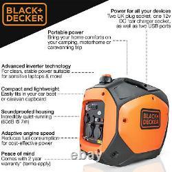 Générateur D'essence Portable Silencieux 2,2 Kw 2,8 Kva 2000w Inverter Noir Et Decker