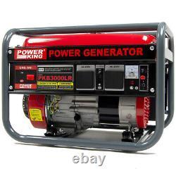 Générateur D'essence Powerking Pkb3000lr 2200w 2.75kva Wolf 6.5hp 4 Stroke