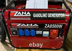 Générateur D'essence Professionnel 8.5kva (zana 8500 W) Rrp Euro 1459