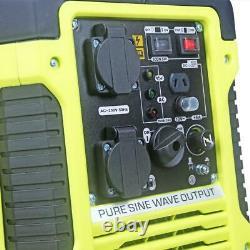 Générateur D'essence Silent Inverter 2kw Portable Camping Caravan Rv Blackline 4600