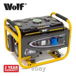 Générateur D'essence Wolf 3200w 4.0kva 7hp 4 Stroke 230v 13amp & 16amp