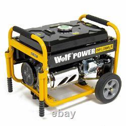 Générateur D'essence Wolf Wpl3500lr 3200w 4.0kva 7hp Avec Kit De Roue