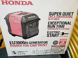 Générateur D'onduleurs Honda Eu3000is Gaz Portable Alimenté