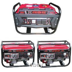 Générateur Essence 2000w 3000w Démarrage Électrique À Clé 6.5hp / 7hp Uk Plug 4 Stoke