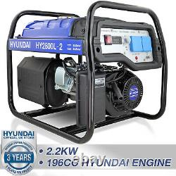 Générateur Essence Démarrement Électrique 2.2kw 2200w 2kva Restauration Portable Site Hyundai