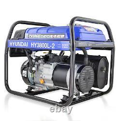 Générateur Petrol Electric Start 3.2kw 3200w 4kva Catering Portable Site Hyundai