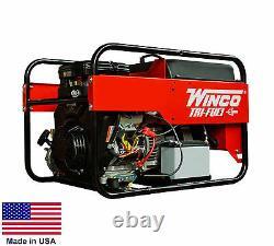Générateur Portable Tri Triple Combustible Ng Lp Et Essence Tirés De 9 Kw 120 / 240v