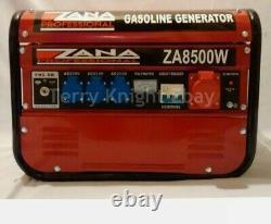 Générateur Professionnel Zana 8.5kva Générateur D'essence (za 8500 W) Rrp Euro 1459