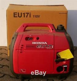 Honda Eu17i Générateur 110v 1700w De La 50hz Essence Gaz Industriel 4cycle Nouveau