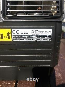 Honda Ex650 Générateur D'essence À 4 Branches Portatif Ac 240v/dc12v