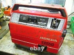 Honda Ex650 Générateur D'essence Ac 240v/dc12v Portable 4 Avc