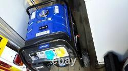 Hyundai Hy3800l-2 Electric Start Site Générateur D'essence Bleu/noir