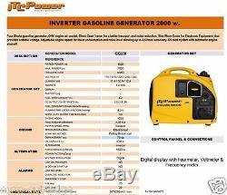 Itc Gg20i Super Silent 2000w Portable Valise Inverter Générateur