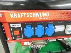 Kraftschwung Petrol Powered Electric Generator Ancien Stock Jamais Utilisé Avant