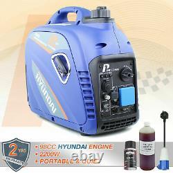 Onduleur Générateur D'essence 2200w 2.2kw 2.8kva Valise Portable Silencieux Hyundai