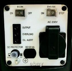 Onduleur Valise Quiet Portable Essence Générateur 4 Stroke 2.6cv 800w 12v 240v