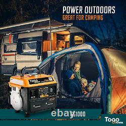Pour La Sauvegarde D'urgence 800/1000 Watts Moteur À Essence Générateur Électrique Portable